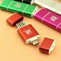 Alumínio micro usb sd sdxc sdhc adaptador leitor de cartão tf otg android telefone móvel & tablets pc dual use pop
