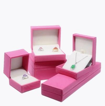 Us 5 99 Leather Wedding Jewelry Box Wedding Ring Box Pink Lucky Color Jewelry Box Jewelry Gift Box Suede Jewelry Box In Jewelry Packaging Display