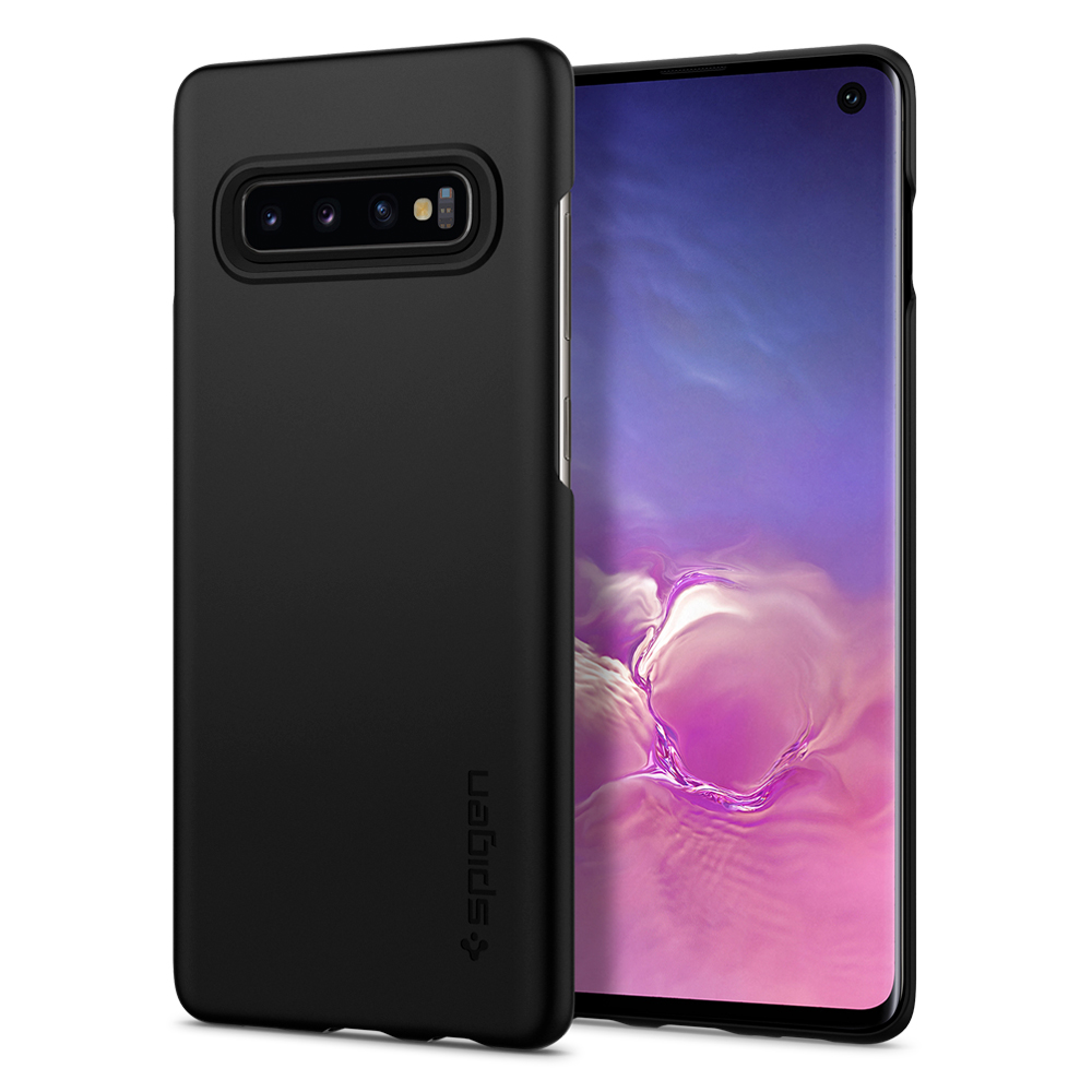 100% Original SPIGEN Thin Fit Hard Back Cover Lightweight Anit-Slip Case for Samsung Galaxy S10 / Galaxy S10 Plus / S10+ / S10E