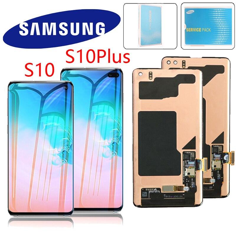 100 ORIGINAL LCD Display for SAMSUNG Galaxy S10e S10 Lcd Display G9730 S10 Plus Display G9750