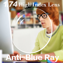 Anti-Blue Ray Lens 1.74 High Index Aspherical Myopia/Hyperopia/Presbyopia Prescr