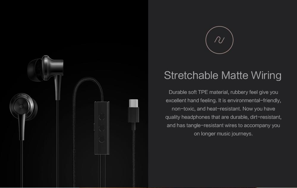 Original Xiaomi ANC Earphones Hybrid Type-C Mic Line Control Active Noise Cancelling USB-C for Xiaomi Mi6 MIX Note2 Mi5 5s Plus (18)