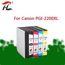1 Juego de cartucho de tinta Compatible 2200XL PGI2200 XL PGI 2200XL PGI2200 para Canon MAXIFY iB4020 MAXIFY MB5020 MAXIFY MB5320 impresora