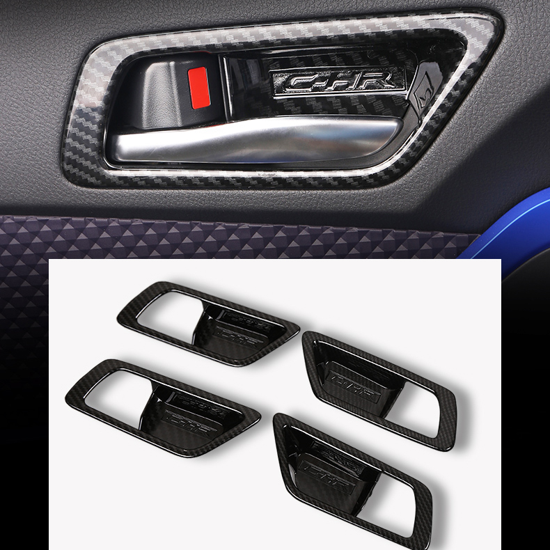 Chromium Styling Punctual 4pcs Silver/ Carbon Fiber Interior Door Bowel Cover Protective Styling For Toyota C-hr Chr 2015 2016 2017 2018 Accessories Limpid In Sight