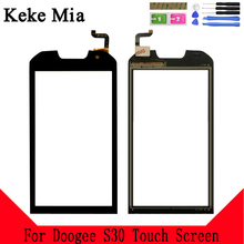 Keke Mia 5.0 Touch Screen Glass For Doogee S30 Touch Screen Glass Digitizer Panel Front Glass Lens Sensor Capacitive Tools цена