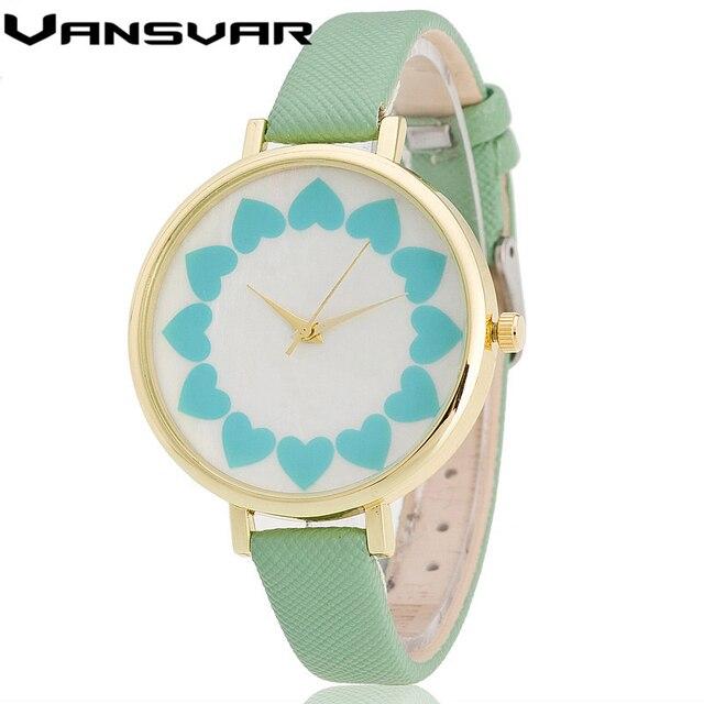 Zegarek damski kwiecisty wzór Vansvar różne kolory