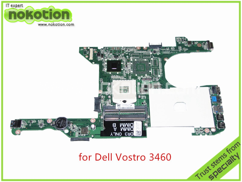 DA0V08MB6D4 REV D CN-0JK5GY JK5GY For dell Vostro 3460 laptop motherboard intel HD4000 HM77 Graphics DDR3