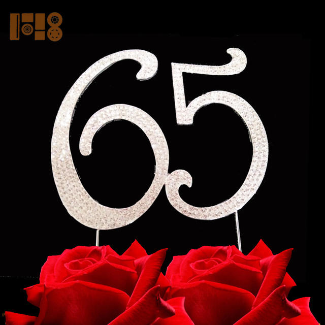 15 Pieces Lot Numbrer 65 For 65th Birthday Party Decoration Supplies Cake Topper Anniversary