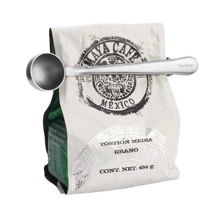 1 шт Многофункциональный нержавеющей стали кофе совок кофе клип чай 1Cup мерная ложка для молотого кофе мерная ложка ложка