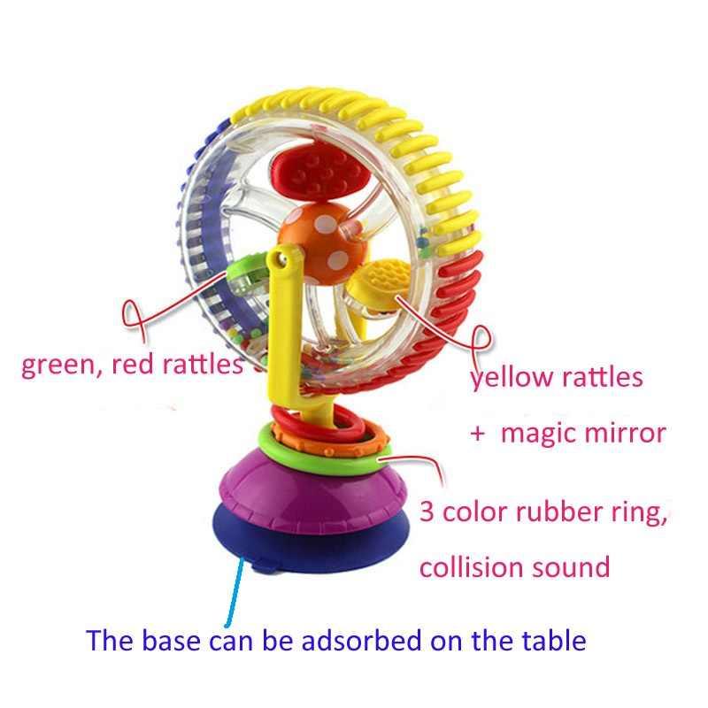 1 st nieuwe baby toys kleurrijke reuzenrad met rammelaars kind early educatief musical visuele zin toys gratis verzending