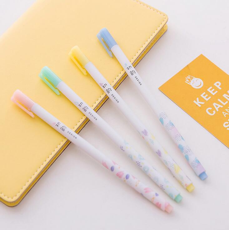 4 pcs/lot 0.35 mm Fresh Design Pen Ink Pen Promotional Gift Stationery School & Office Supply