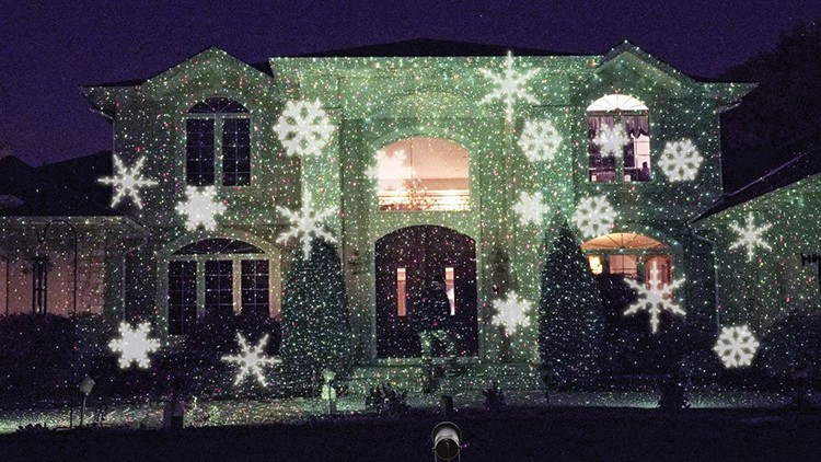 getSubject() aeProduct. - Five Star Snowflake Moves Automatically LED Landscape Projector