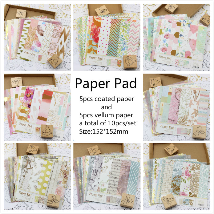 KSCRAFT 6inch Beautiful Flower Patterned Paper Pack For Scrapbooking DIY Projects/Photo Album/Card Making Crafts