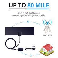AH-LINK 1080P Indoor TV Antenna Digital HDTV Antenna Amplified Booster 80 Mile Range 4K HD VHF Freeview Local Channel TV Aerial