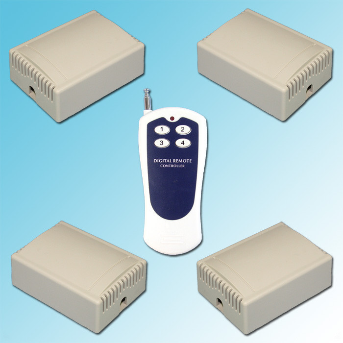 4 receivers AC110~220 Wireless Remote Control Switch System They Work With Broad