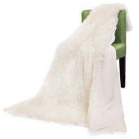 Super Soft Long Shaggy Throw Blanket Faux Fur Warm Elegant Cozy With Fluffy Blanket Gift Bedspread Suitable
