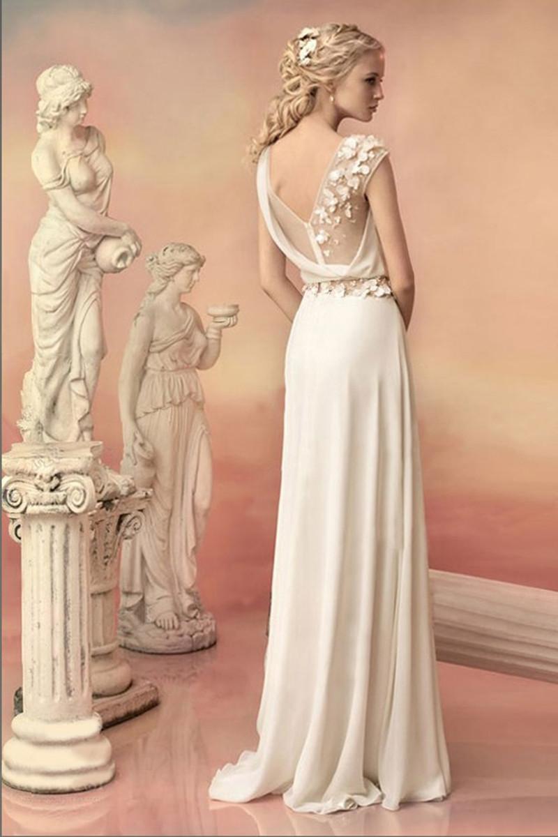 Fashion Long Evening Dresses Bride Princess Banquet Lace Chiffon Prom Dress  Greek Goddess Elegant Backless Plus Size Formal Dre-in Evening Dresses from  ... a04de32ca602
