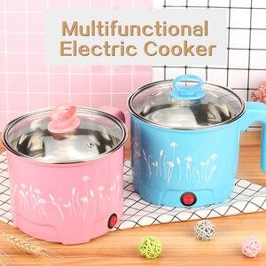 Image 2 - TINTON LIFE sartén eléctrica multifunción olla caliente de acero inoxidable para Fideos, olla para arroz, huevo al vapor, sopa, MINI bandeja de calentamiento