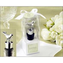 Factory Fast Delivery Wedding Favor Love Birds Chrome Bottle Stopper Which Is Sell Well Right Now Wholesale
