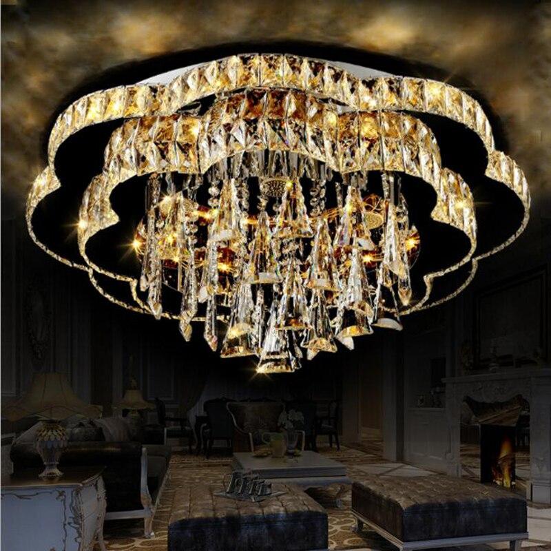 US $560.74 54% OFF|Neue kristall lampe led deckenleuchte moderne fashion  rund atmosphäre wohnzimmer lampe schlafzimmer lampe restaurant leuchten-in  ...