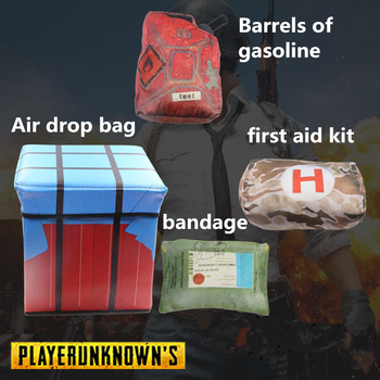 PUBG Playerunknowns Battlegrounds first aid kit painkiller bandage Air drop Storage box Plush Gift Plush pillow kids adults gift