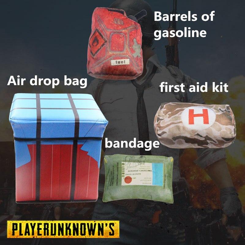 PUBG Playerunknowns Battlegrounds first aid kit painkiller bandage Air drop Storage box Plush Gift Plush pillow kids adults gift