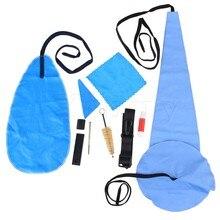 Yibuy 10 x Portable Cork Grease Brush Cloth Saxophone Cleaning Maintenance Kit