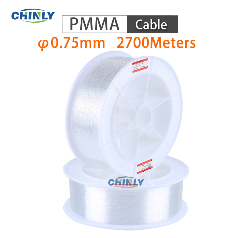 End Glow Cable 0.75mm Sparkle Point PMMA Optical Fibers Light 2700m DIY Ceiling Lighting Decorative LED Fibers Optic Wire
