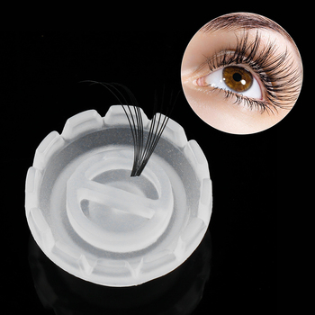 50pcs/bag Individual Eyelash Glue Holder Grafting Eyelashes Quick Blossom cup ring Eyelash Extension Adhesive Stand Makeup Tools False Eyelashes