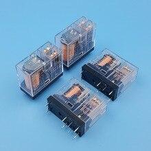 10 قطعة اومرون G2R 2 DC12V 24V 8Pin قاعدة لوحة دائرة مطبوعة DPDT السلطة التقوية 5A/250VAC