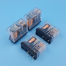 10Pcs Omron G2R 2 DC12V 24V 8Pin PCB Mount DPDT Power Relay 5A/250VAC