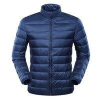 Men's Large Size Ultra Light Eiderdown Jacket Duck Down Windbreaker Lightweight Feather Coats Brand Fashion Casual Jacket