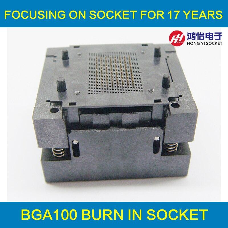 BGA100 graver dans la prise BGA100 adaptateur IC prise de Test pour BGA lecture programmeur adaptateur prise de programmation Structure à cadre ouvert