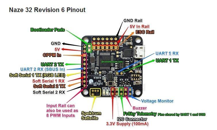 naze32 rev5 6dof rev6 6dof full acro version flight controller naze32 rev5 manual naze32 rev5 schematic #4