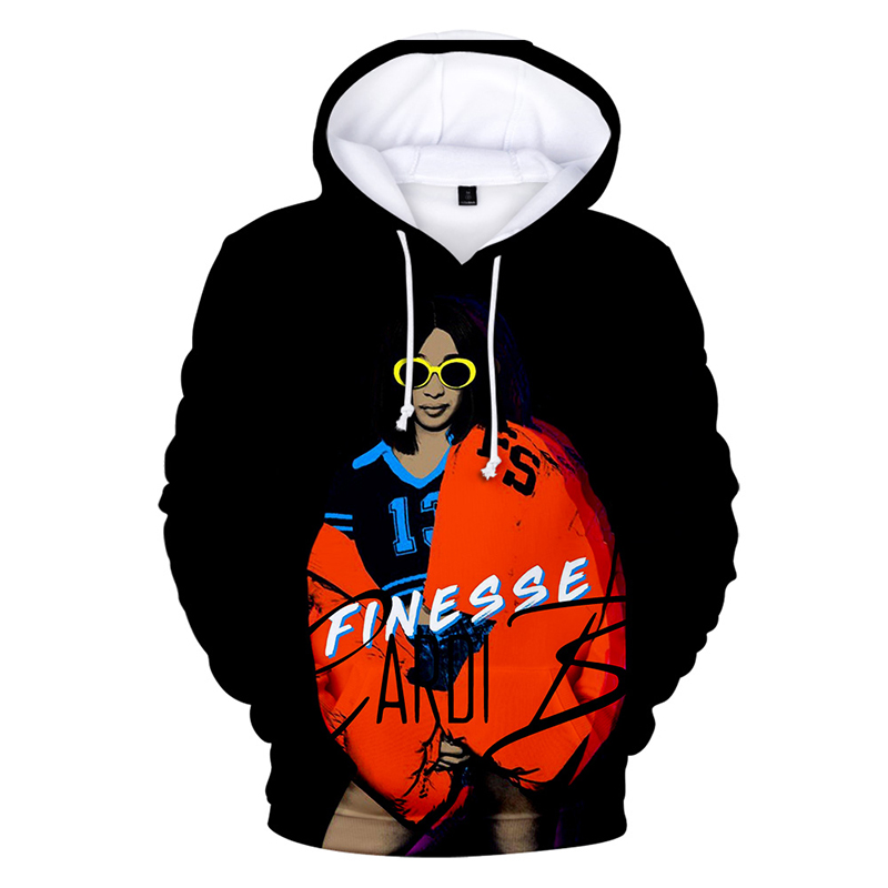 3d Hoodies Pullover Cardi B Fashion Rapper Hip Hop Men Women Hoodie Hoody Casual Long Sleeve 3d Hooded Sweatshirts Plus Size 4xl Suitable For Men, Women, And Children