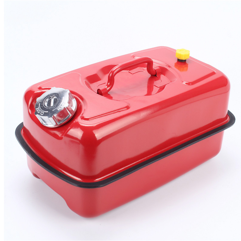 Metalical 5L 10L 20L Gallon Liquid Water Lying Gas Can Portable Red Oil Barrel Diesel Drum Fuel Bucket Fuel Tank Oil Jerry Can