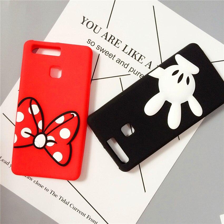 c2fe2a97d1 Korean Cute Cartoon Mickey Minnie Mouse Coque Soft Silicone Phone Case For  Huawei P8/P9/P10 lite plus Mate 7/8/9/10 Cover Fundas