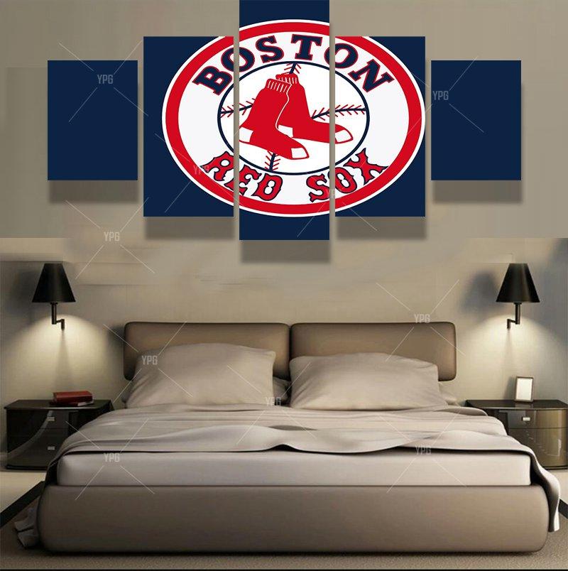 5 Panels Boston Red Sox Sports Team