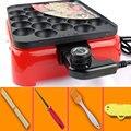 Регулируемая температура Chibi Maruko машина Осьминог машина для выпечки бытовой такояки машина для изготовления шаров осьминога 800 Вт 22 Отверст...