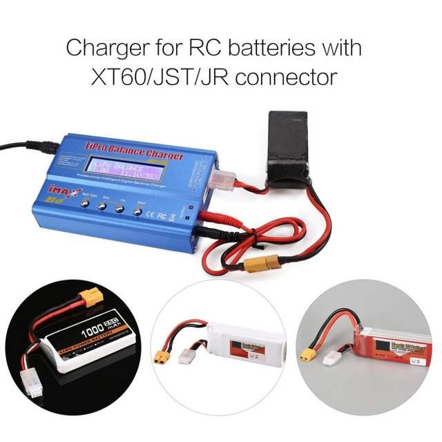 Heaviesk iMAX B6 80W 6A Lipo NiMh Li-Ionen-NI-Cd RC Balance Charger 10W 2A Entlader mit 15V 6A AC//DC-Adapter f/ür RC Modell Batterie