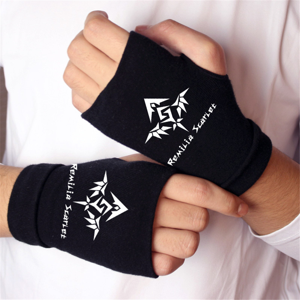 Anime TouHou Project Finger Cotton Knitting Wrist Gloves Mitten Lovers Anime Accessories Cosplay Fingerless gloves mitten Gift