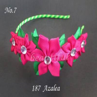 50 pcs hand customize new style BLESSING Good Girl Modern Style Headband accessories hyacinth Garland Hair Bow