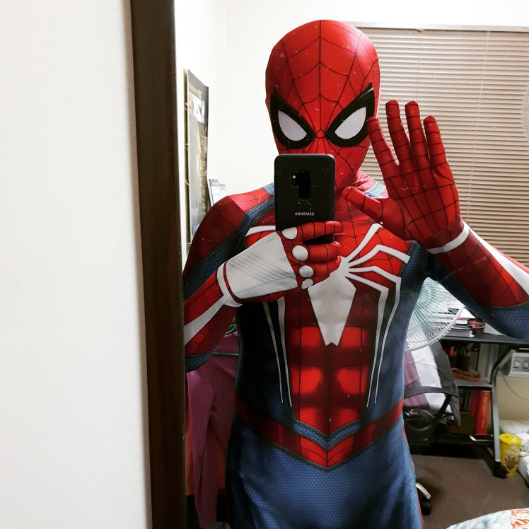 newset Movie ps4 insomniac spiderman Cosplay Costume 3D Print Halloween Spidey Suit with Removable mask eye glasses/Lenses shoes Лосины