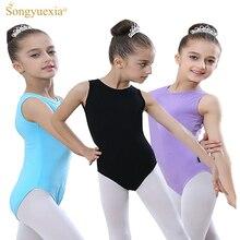 SONGYUEXIA Sleeveless Gymnastics Ballet Leotards for Girls Costumes Kids  Ballerina Bodysuit Dancewear Jumpsuit