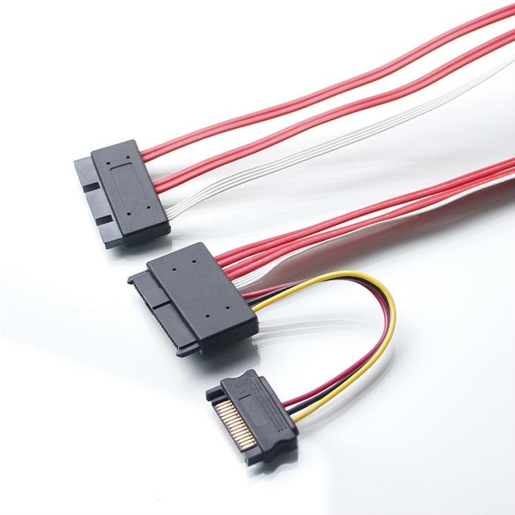 SFF-8639 SATA 3.2 Express to SFF-8482 29pin Data Raid Cable