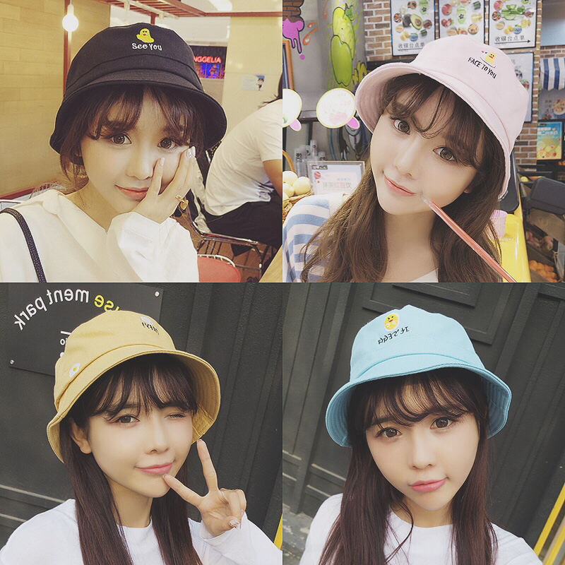 2018 new Summer Solid Flat Chic Bucket Hat with Bowknot Women Vintage Street Fisherman Caps Panama Sun Hats Hat Outdoor