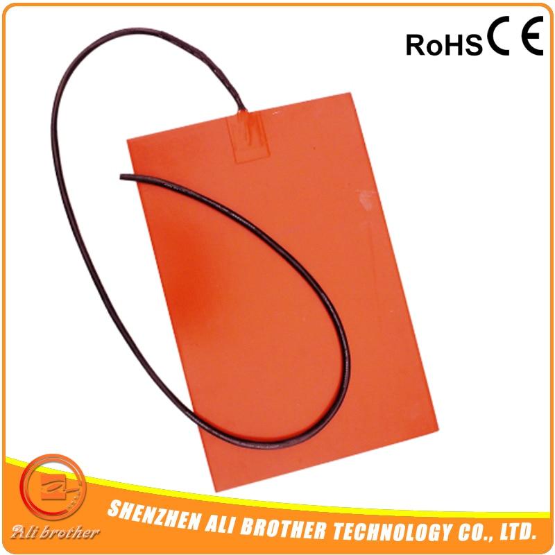 CE/сертификат tuv 12 В 100 Вт 200x200 мм силиконовый коврик нагреватель для 3D-принтеры с термистора