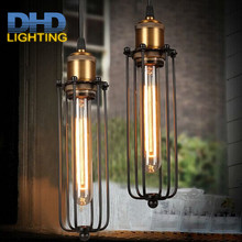 2pcs Single head Vintage Retro Restaurant Pendant Light American country style Edison Flute lamp Industrial warehouse