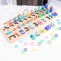 Children Fishing Wooden Montessori Learning To Count Numbers Matching Digital Shape Early Education Teaching Math Toys