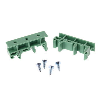 PCB 35mm DIN Rail Mounting Adapter Circuit Board Bracket Holder Carrier Clips Connectors